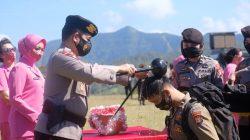 Tradisi Pembaretan Bintara Remaja Angkatan 45 TA. 2021 Dipimpin Kapolda Bersama PJU Polda Sulsel